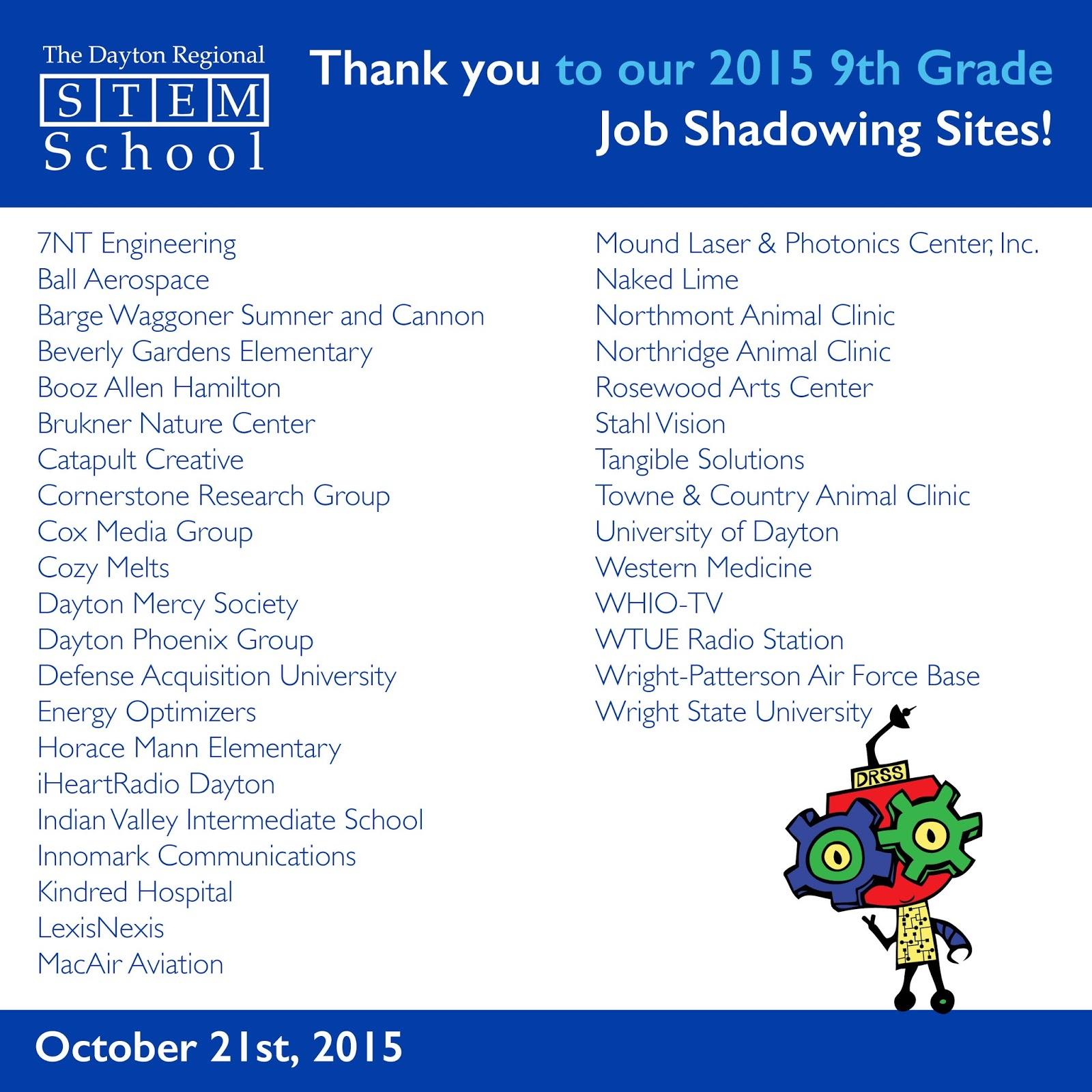 Dayton Stem School: Dayton Regional STEM School News And Events: 2015 9th