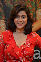 Mannara Chopra in deep neck Short red sleeveless dress Cute Beauty ~  Exclusive Celebrities Galleries 025.JPG