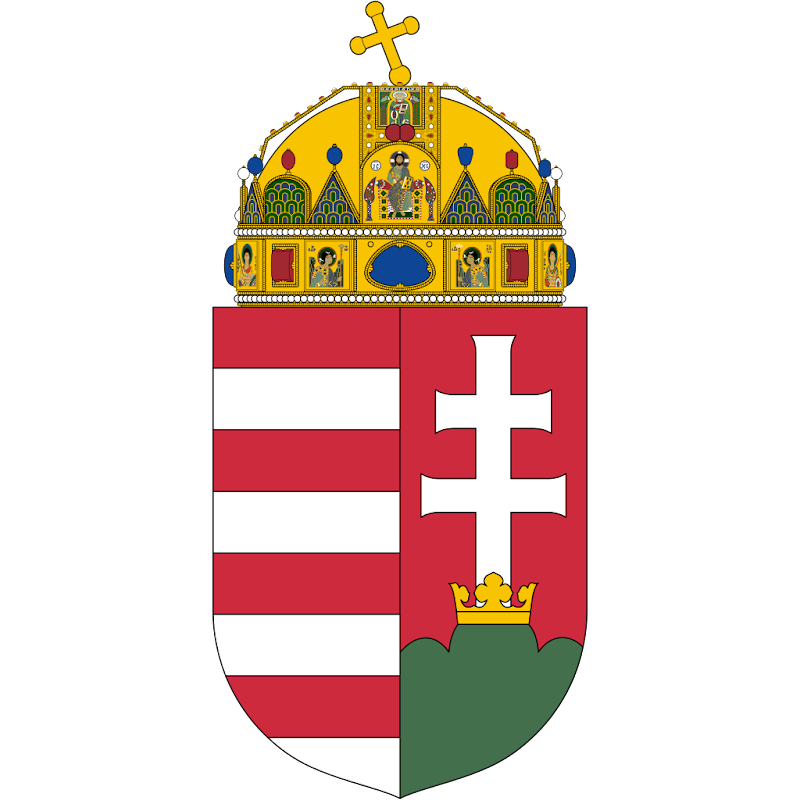 Logo Gambar Lambang Simbol Negara Hongaria PNG JPG ukuran 800 px