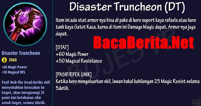 Fungsi item mage Disaster Truncheon mobile legend