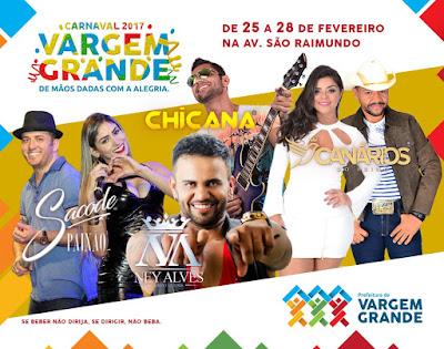 PROGRAMACAO - Carnaval em Vargem Grande-MA
