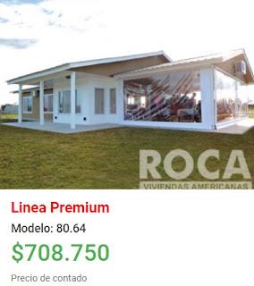 Viviendas Roca precios 2018 linea premium modelo 80 64