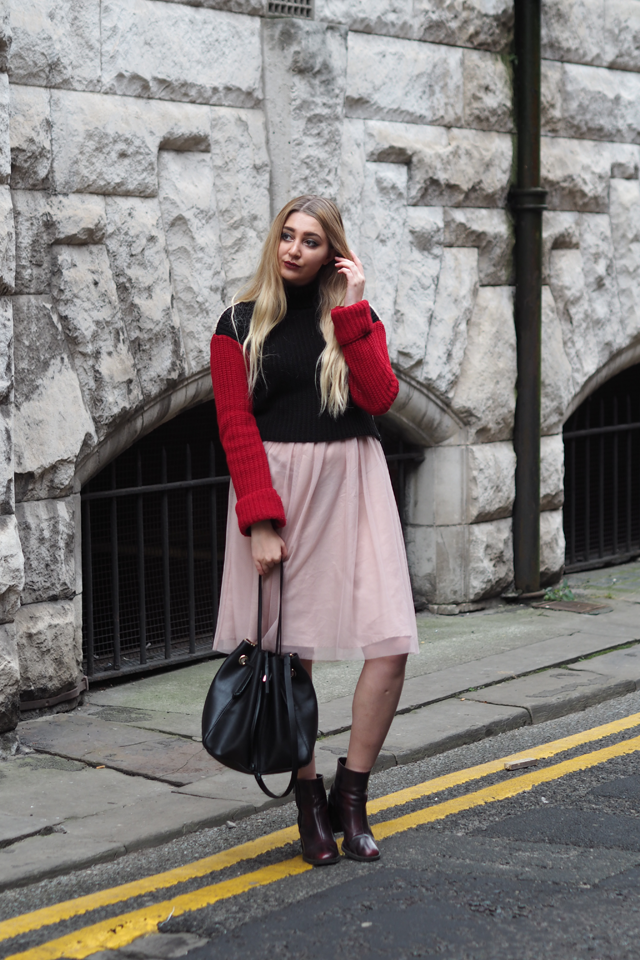 how to style tulle midi skirt fashion blog