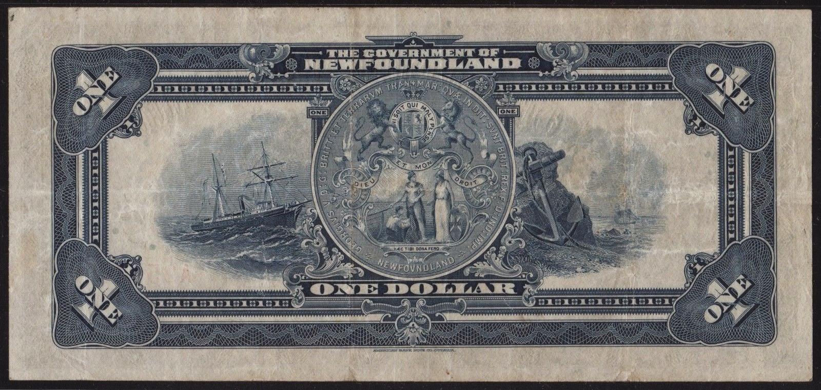 Newfoundland Banknotes 1 Dollar note