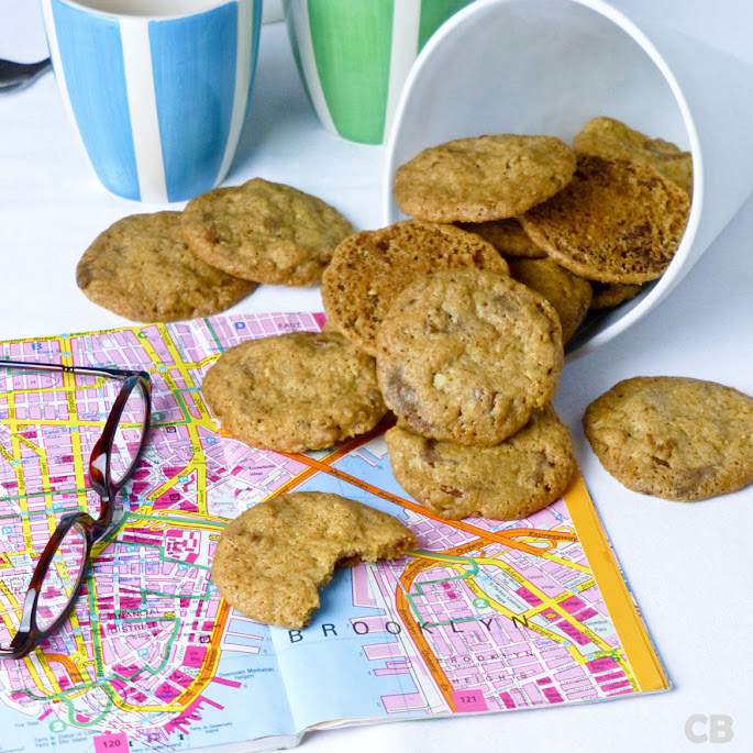 Chocolate chip cookies met pecannoten