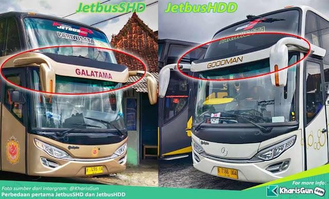 Perbedaan Jetbus SHD dan HDD Adiputro Karoserie Bismania Community Bismania CSM, Bismania Masdusel, Bismania Tapal Kuda, Bismania Soloraya, Bismania Suci