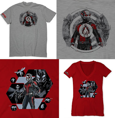 "Ant-Man ""Movie Cast"" Timed Released T-Shirts by Marvel"