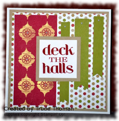 Christmas Card, Mojo Monday, Stamp with Trude, Stampin' Up!, Christmas Messages, Very Merry Tags
