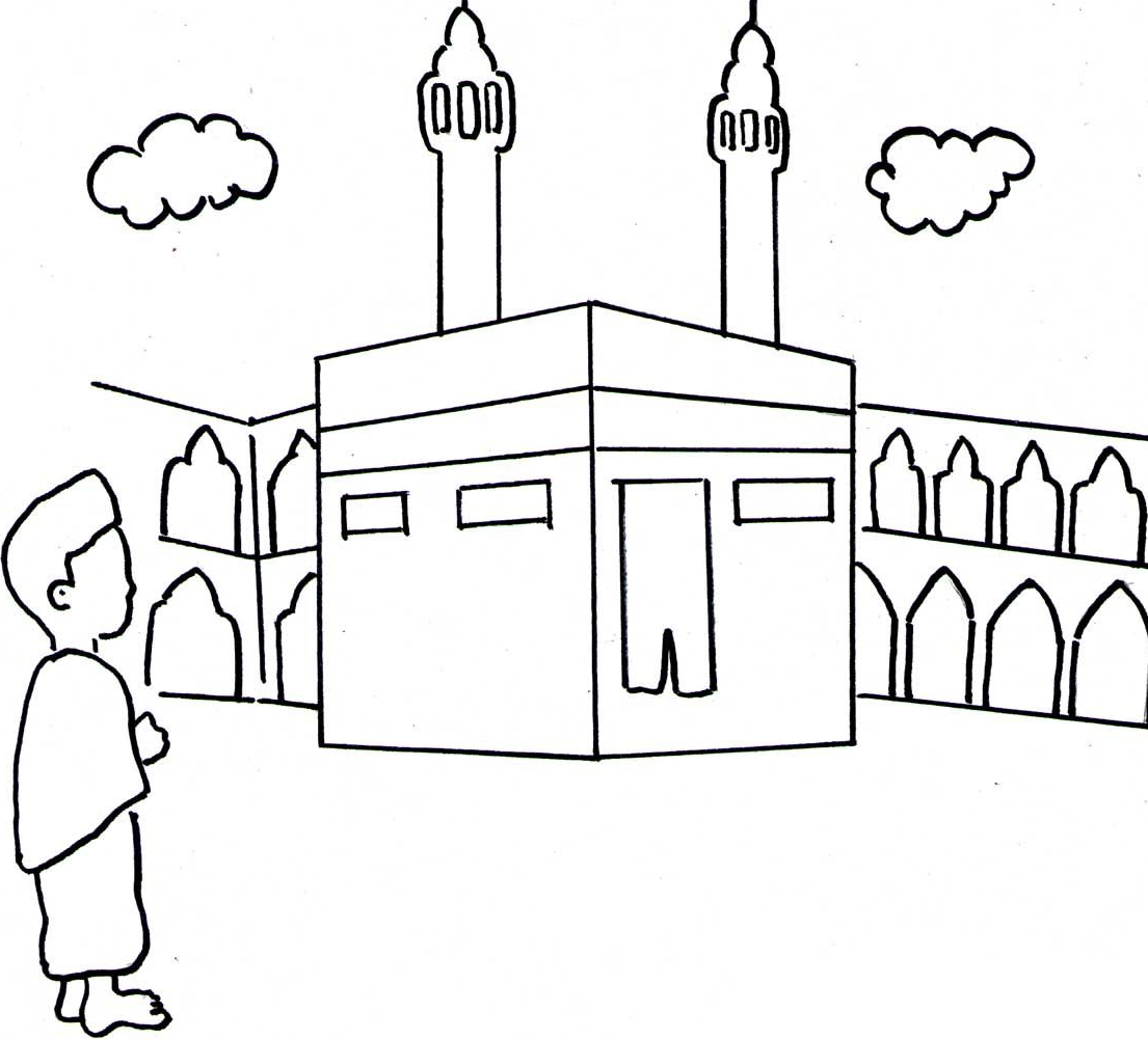 Gambar Mewarnai Untuk Islami Anak Tk Paud Terbaru Gambarcoloring