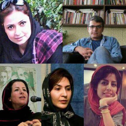 بنفشه جمالی، زهره اسدپور، پرستو الهیاری فعالان حقوق زنان  سودابه رخش خبرنگارشرق  پیمان چهرازی شاعرامروز