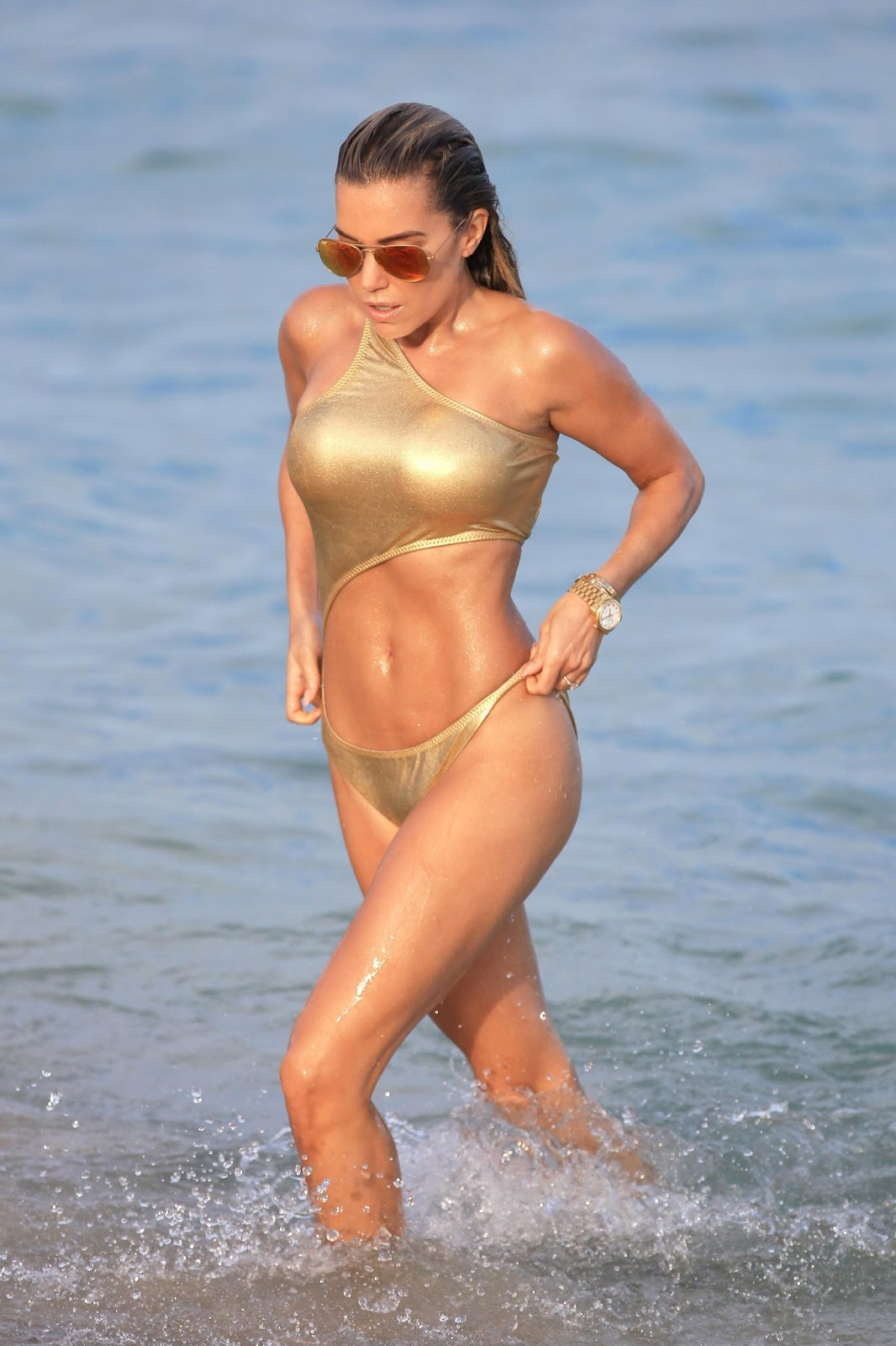 Sylvie Meis in Gold Bikini