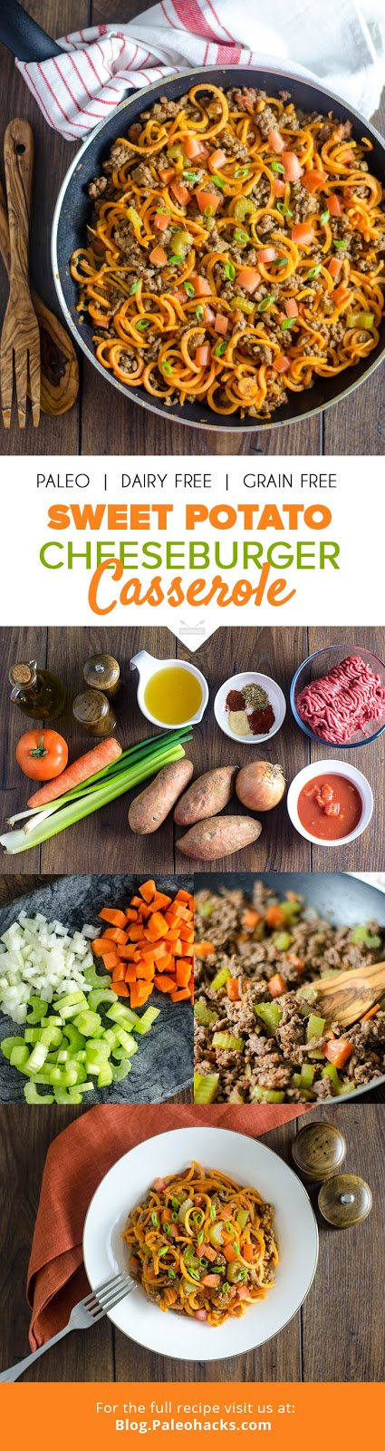 Sweet Potato Cheeseburger Casserole