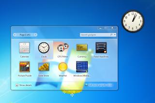 Sebuah acara komputer pengaturan dasar pada operasi komputer dan acara Run Cara Menampilkan Gadget Di Windows 7