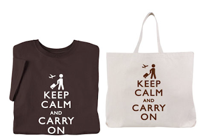 Keep Calm and Carry On T-shirt and tote