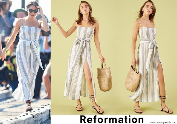 Meghan Markle wore Reformation Pineapple Dress