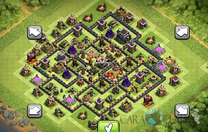 Base Trophy TH 9 COC Update Bomb Tower Terbaru 2017 Tipe 18
