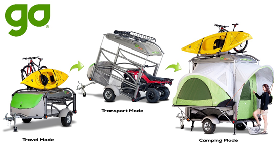 SylvanSport GO The Swiss Army Knife Of Camping Trailers Is An 840 Lb Toy Hauler Utility Trailer And Camper All In One With Three Configurations