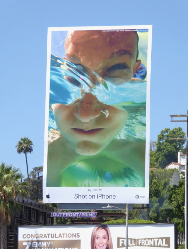 Shot iPhone Face submerged John W billboard