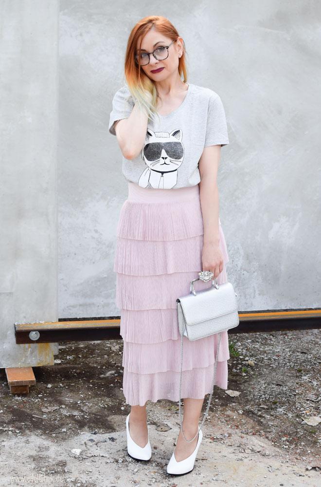 Karl Lagerfeld T-Shirt in Grau für Damen, Choupette T-Shirt