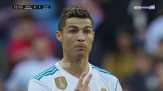 شاهد ملخص مباراة ريال مدريد وايبار 2-1 - ثنائيه رونالدو وهدف قاتل - الدورى الاسبانى -