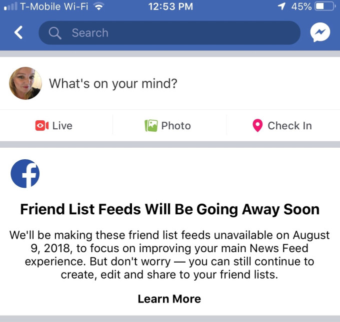 Facebook is shutting down its Friend List Feature