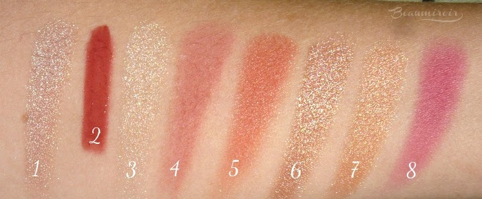 cheek products swatches