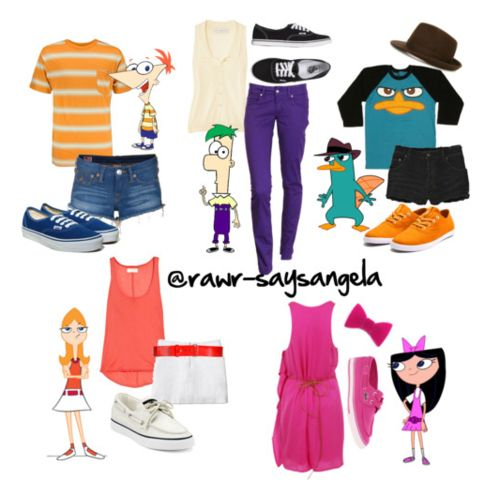 Costumes inspired by the cartoons (Disney)