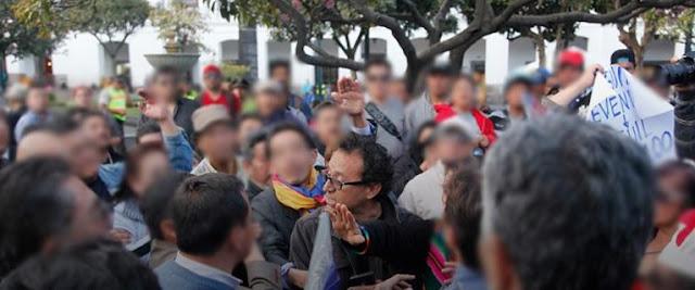 christian zurita fue agredido en la plaza grande en quito