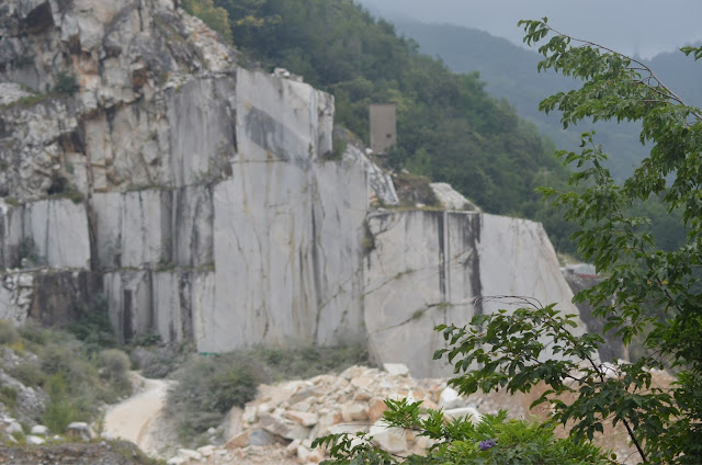 The marble quarries of Carrara