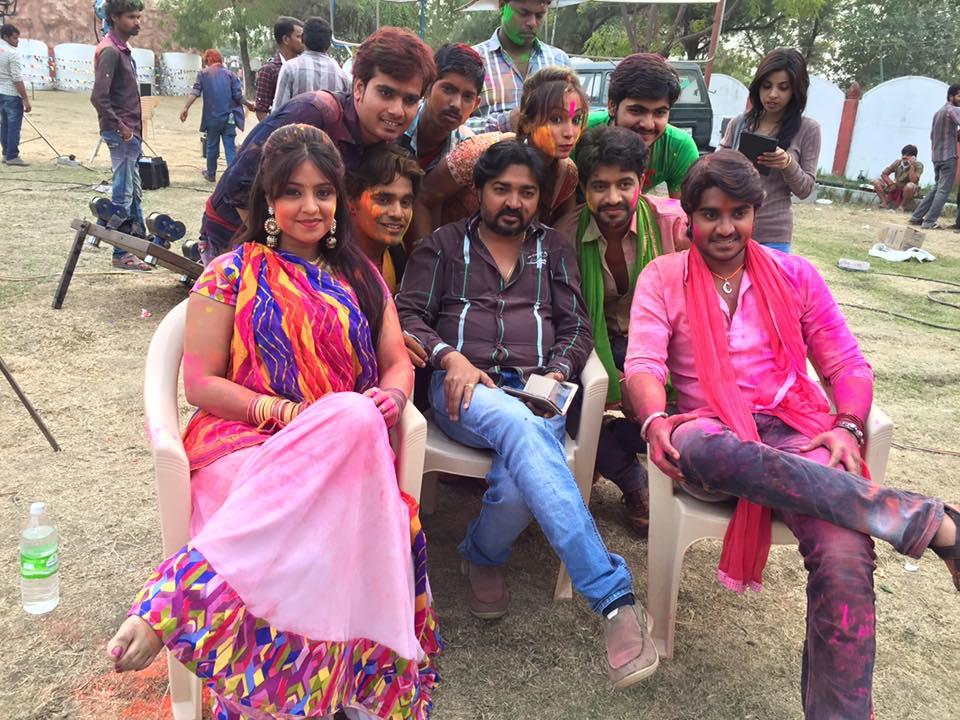 Pawan Singh, Subhi Sharma, Tanushree Shooting stills of Bhojpuri Movie Dulhan Chahi Pakistan Se