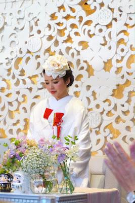 お客様からのPhoto& Message_ウェディングブーケと花髪飾りairaka