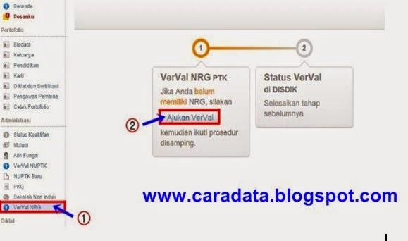 Bagi para pemilik sertifikat pendidik yang sudah memiliki NRG wajib VerVal di layanan Pad Cara Mencetak S26b/S26b2; Surat Ajuan VerVal NRG di Padamu Negeri