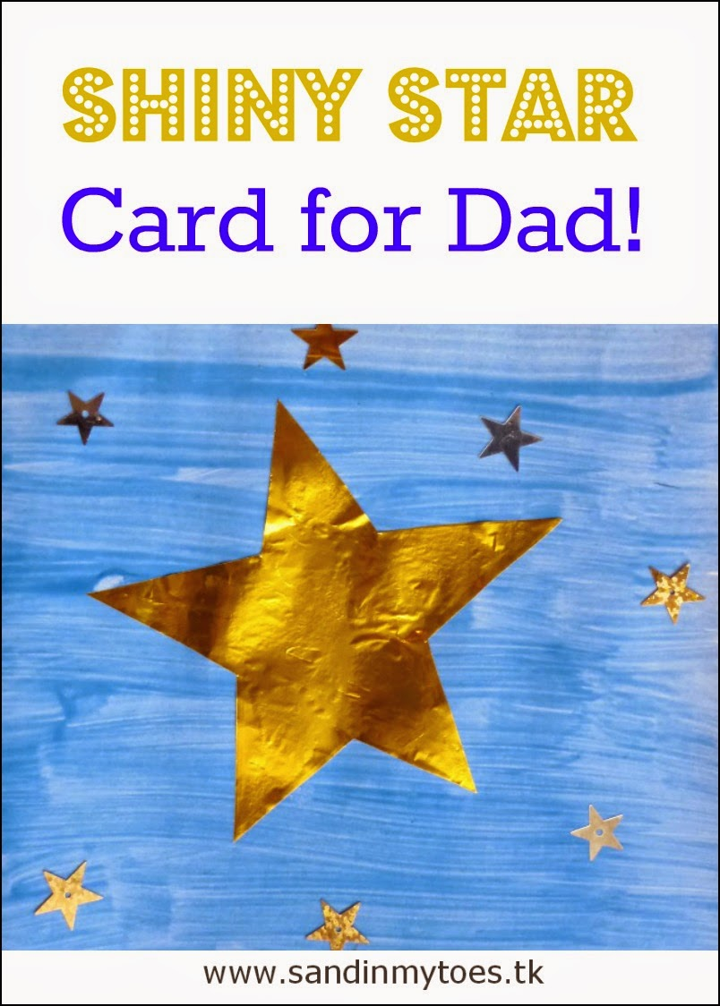Shiny Star Card for Dad