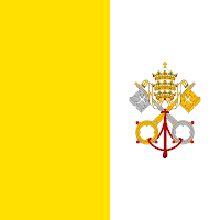 Vatican City - flag - Pope John Paul II - Papa Karol Wojtyla