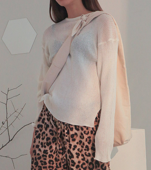 Sheer Pullover Knit Top