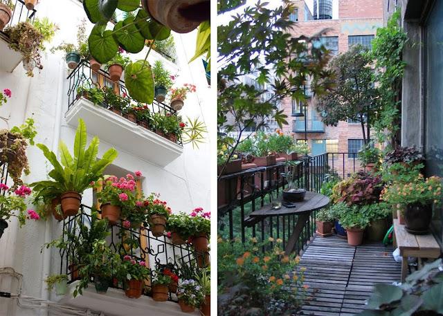 La fabrique d co id es pour am nager son balcon en jardin urbain accueillant - Pot fleur balcon ...
