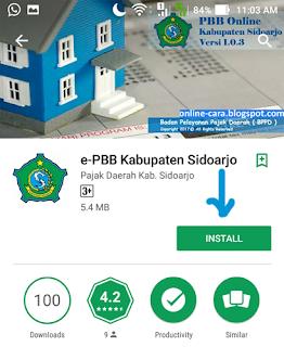 Mengecek PBB Sidoarjo di Android