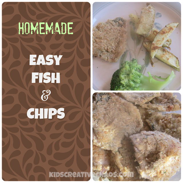 Homemade Fish and Chips Recipe.