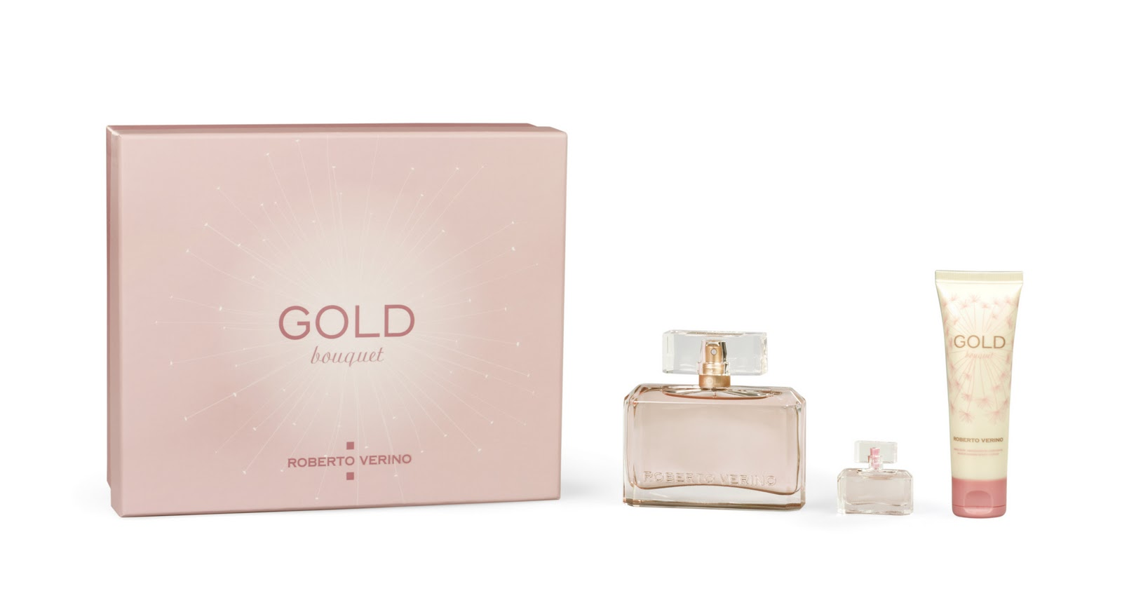 estuche de la fragancia Gold Bouquet