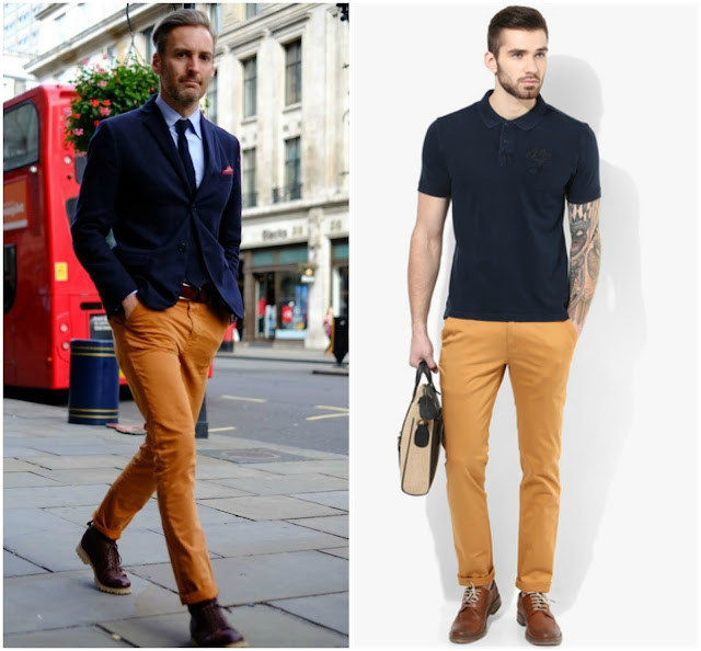Ochre trousers, cotton trousers, trousers