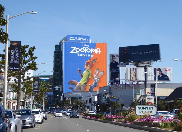Giant Zootopia movie billboard