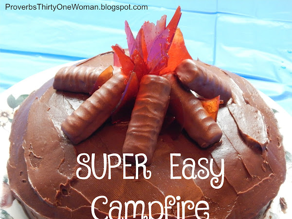 How to Make a Campfire Cake...It's SO Easy!