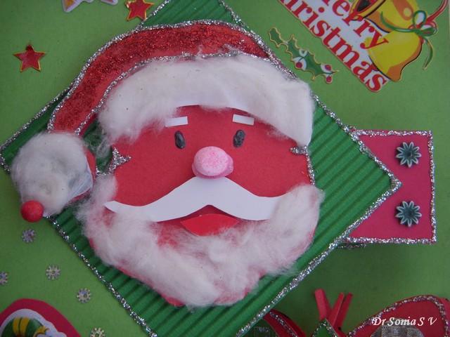 santa claus pop up card - Santa Claus Preschool Crafts