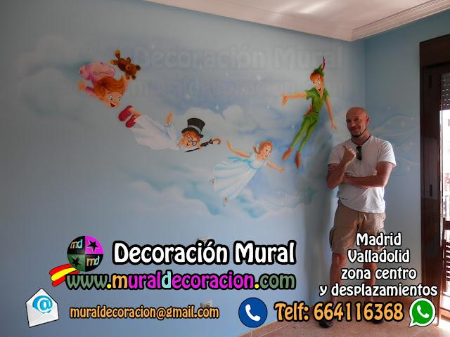 MURALES_INFANTILES_DECORACIÓN_MURAL _INFANTIL_PETER_PAN