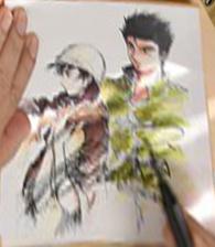Signed illustration