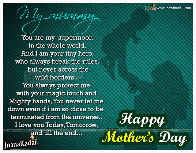 Latest English Mothers Day Quotes-2016 Mothers Day kavithlu-Mothers Day English Best kavithalu