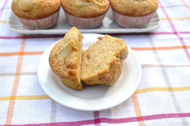 Muffin senza grassi aggiunti alle mele