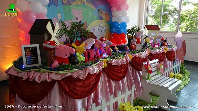 Decoração infantil Peppa Pig - Decoração de festa infantil