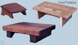 wood footstool