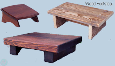 wood footstool